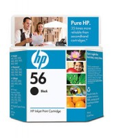 HP 56 Black Ink Cartridge - (C6656AE)
