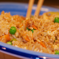 Home made egg fried rice