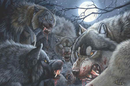 Werewolves-Halloween Scary Creatures