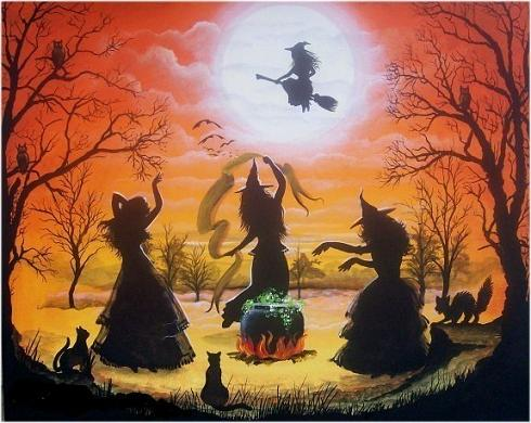 Witches on Halloween