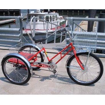 Worksman Adaptable Industrial 3-Speed Tricycle with Platform