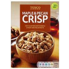 Tesco Maple & Pecan Crisp