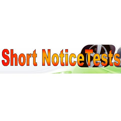 Short Notice Tests - www.shortnoticetests.com