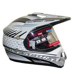 Wulfsport Prima 2 Motocross Road Legal Crash Helmet Enduro MX