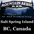Salt Spring Island, B.C. Mountain Aerie Retreat