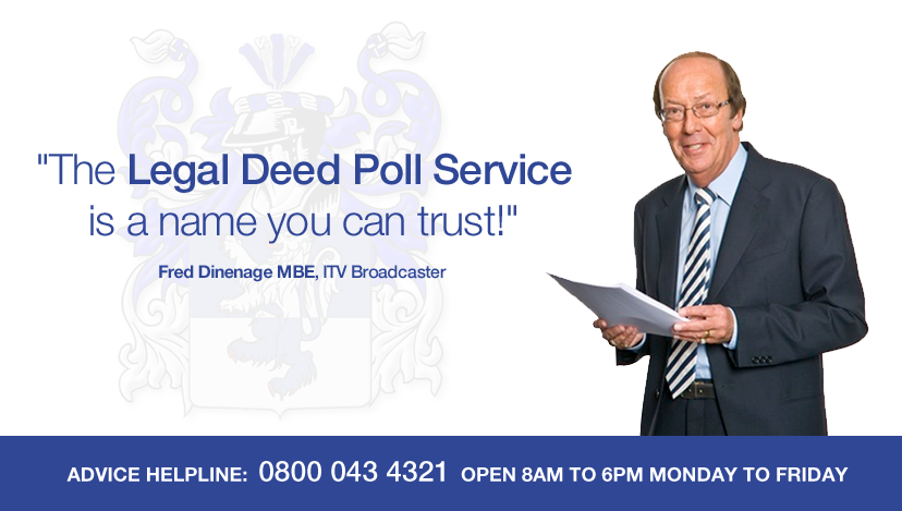 The Legal Deed Poll Service www.thelegaldeedpollservice.org.uk