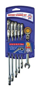 Flexi Head Ratchet Spanner Set 6 Piece