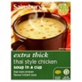 Sainsbury's Extra Thick Thai Style Chicken Soup in a Cup