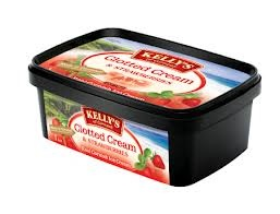 Kelly's  Ice Cream: Strawberries & Clotted Cream