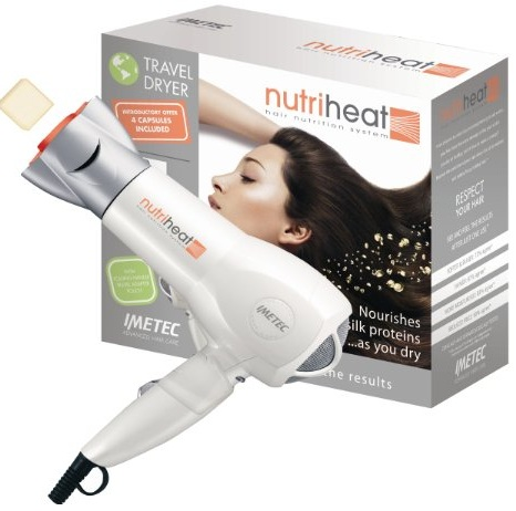 Imetec Nutriheat Travel Hair Dryer 1690