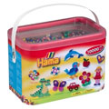 Hama Beads 10,000 Beads in a Bucket - Solid Mix