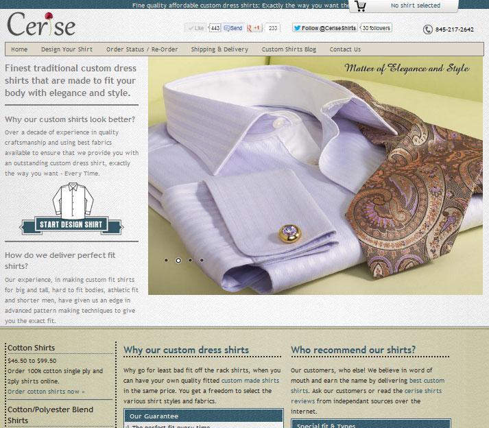 Cerise Shirts / Custom Dress Shirts - www.ceriseshirts.com