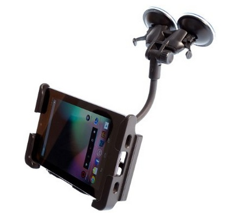 Ultimate Addons Dual Windsceen Suction Mount Car Kit + Super Strong Slim Holder for Tablets