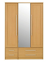 Kendal 3 Drawer Wardrobe, Oak Effect
