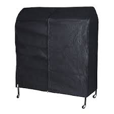 4ft Breathable Black Clothes Rail Cover