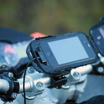 Ultimate Addons Pro Motorcycle Bike Mount Kit with Hard Wire Powered Battery Charger Cable