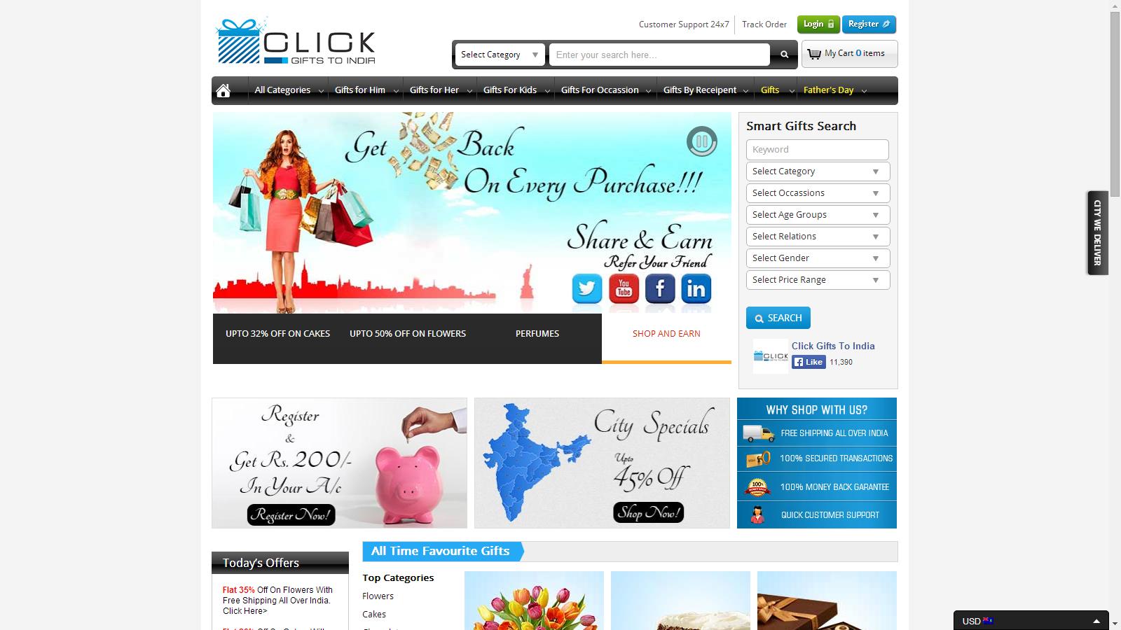 Clickgiftstoindia.com - www.clickgiftstoindia.com