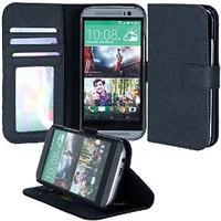 HTC One M8 Black Flip Case